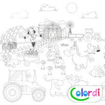 Farmos Colordi lemosható óriás újraszínező