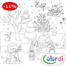 Karácsonyi limitált kiadású lemosható újraszínező