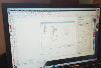kép a monitorrol, ahogy fut rajta a coreldraw