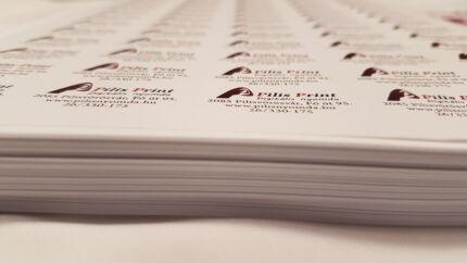 Pilis Printes etikett címkék egy tömbben
