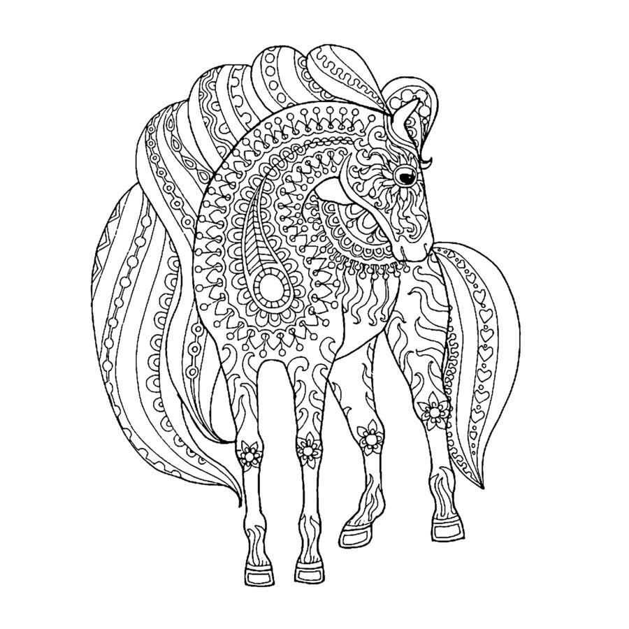 Colordi lovas színezős szatyor