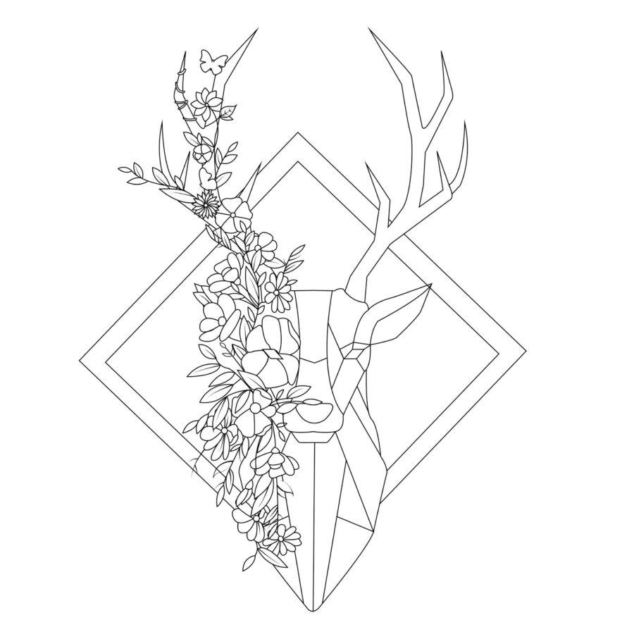 Colordi virágos szarvas színezős szatyor