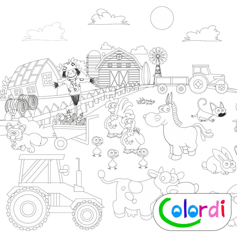 Farmos Colordi óriás papírszínező